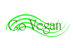 Vector illustration inscription go vegan. Stock Image