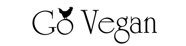 Vector illustration inscription go vegan. Royalty Free Stock Image