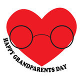 Vector illustration with the inscription Happy Grandparents Day Stock Photos