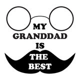 Vector illustration with the inscription My granddad is the best Royalty Free Stock Photography