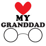 Vector illustration with the inscription My granddad Stock Photography