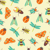 Vector illustration of insects icons collection. Vector illustration of insects icons color collection Stock Photography