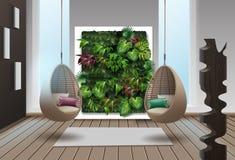 Eco-minimalist style interior stock image