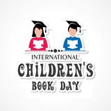 International Children`s book day poster. Vector illustration of International Children`s book day poster celebrated on 2nd april Royalty Free Stock Photos