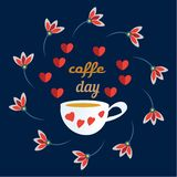 Vector illustration of International Coffee Day. Suitable for greeting card, poster and banner. Flat realism. Vector illustration of International Coffee Day vector illustration