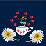 Vector illustration of International Coffee Day. Suitable for greeting card, poster and banner. Flat realism. Vector illustration of International Coffee Day stock illustration