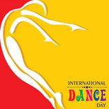 Vector Illustration of International Dance Day Greeting Stock Photography