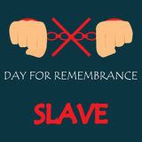 Vector illustration of International Day for the Remembrance of the Slave Trade and Its Abolition Royalty Free Stock Images