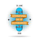 Vector illustration of international day of skateboarding Royalty Free Stock Photography