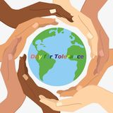 Vector illustration of International Day for Tolerance. Royalty Free Stock Images
