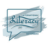 Vector illustration of International Literacy Day card. Royalty Free Stock Photos