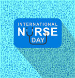 Vector illustration for International Nurse Day Royalty Free Stock Images