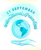 Vector illustration of international peace day september 21 Stock Photography