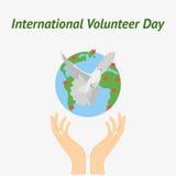 Vector illustration for International Volunteer Day Royalty Free Stock Photo