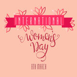 Vector Illustration international women`s day Stock Photo