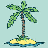 Vector illustration of an island Royalty Free Stock Photography