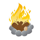 Vector illustration of an isolated campfire Stock Photography