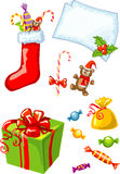 vector illustration of isolated christmas gifts  Stock Images