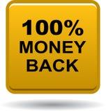 Money back button web icon golden. Vector illustration isolated - money back button web icon golden Royalty Free Stock Photos