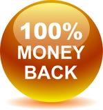 Money back button web icon golden. Vector illustration isolated - money back button web icon goleden Stock Image