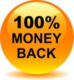Money back button web icon orange. Vector illustration isolated - money back button web icon orange Royalty Free Stock Photos