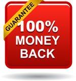 Money back button web icon red. Vector illustration isolated - money back button web icon red Stock Photos