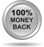 Money back button web icon sliver stock photography
