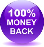 Money back button web icon violet. Vector illustration isolated - money back button web icon violet Stock Photography