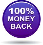 Money back button web icon violet. Vector illustration isolated - money back button web icon violet Royalty Free Stock Photos