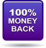 Money back button web icon violet. Vector illustration isolated - money back button web icon violet Stock Photos