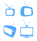 4 tv icons Royalty Free Stock Photos