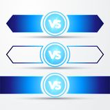Vector illustration isolated VS versus sign concept of confrontation, together, standoff, final fighting. Vector illustration blue isolated VS versus sign Royalty Free Stock Images