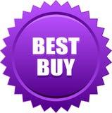 Best buy seal stamp violet. Vector illustration isolated on white background - best buy seal stamp badge violet Stock Illustration