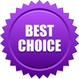 Best choice seal stamp violet. Vector illustration isolated on white background - best choice seal stamp badge violet Vector Illustration