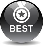 Best seller button. Vector illustration isolated on white background - Best seller selling product medal stared Royalty Free Stock Photos