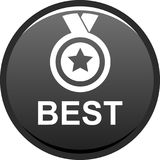 Best seller button. Vector illustration isolated on white background - Best seller selling product medal stared Royalty Free Stock Photo