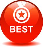 Best web button. Vector illustration isolated on white background - Best seller selling product medal stared Stock Photos