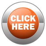 Click here button royalty free illustration