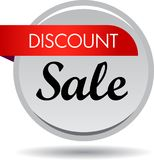 Discount sale web button icon. Vector illustration isolated on white background - discount sale web button icon Royalty Free Stock Images