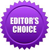 Editor`s choice seal stamp violet. Vector illustration isolated on white background - editor`s choice seal stamp bronze violet Stock Illustration