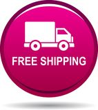 Free shipping web button. Vector illustration on isolated white background - Free shipping web button Stock Images