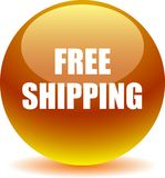 Free shipping web button. Vector illustration on isolated white background - Free shipping web button Stock Photo