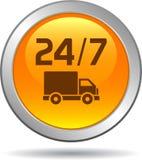Free shipping web button. Vector illustration on isolated white background - Free shipping web button Stock Photos