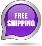 Free shipping web button. Vector illustration on isolated white background - Free shipping web button Stock Image
