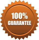 Guarantee seal stamp bronze. Vector illustration isolated on white background - guarantee seal stamp bronze Royalty Free Stock Photo