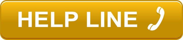 Help line web button golden orange. Vector illustration isolated on white background - help line web button golden orange Royalty Free Stock Image