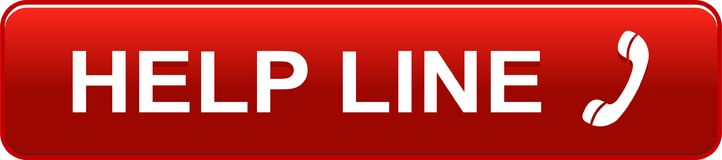 Help line web button red. Vector illustration isolated on white background - help line web button red Royalty Free Stock Image