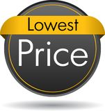 Lowest price button. Vector illustration isolated on white background - lowest price web button icon vector illustration