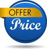 Offer price web button icon. Vector illustration isolated on white background - offer price web button icon Royalty Free Stock Photography