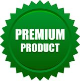 Premium product seal stamp green. Vector illustration isolated on white background - premium product seal stamp green Royalty Free Stock Images